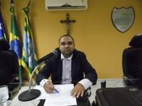 Vereador Presidente Tharlis Santos (PSD) Afirmou que na próxima Sessão será colocado em pauta o Projeto de Segurança Pública