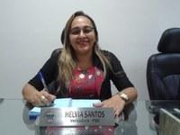 """Vereadora Hélvia Almeida (PSD) Em Tribuna reforça o pedido do calçamento para Rua """"C"""" Cruzeta"""