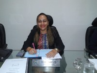 Vereadora Hélvia Almeida (PSD) Falou que está sendo tomada uma medida paliativa na estrada que liga Guadalupe a Jerumenha