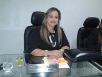 Vereadora Luciana Martins (PCdoB) Desejou boas vindas ao Presidente Tharlis Santos por está de volta a bancada